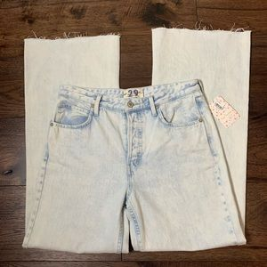 NWT Free People High Rise Straight Flare Jeans